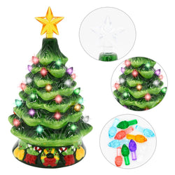 "7"" Ceramic Christmas Tree with Candy Cane"