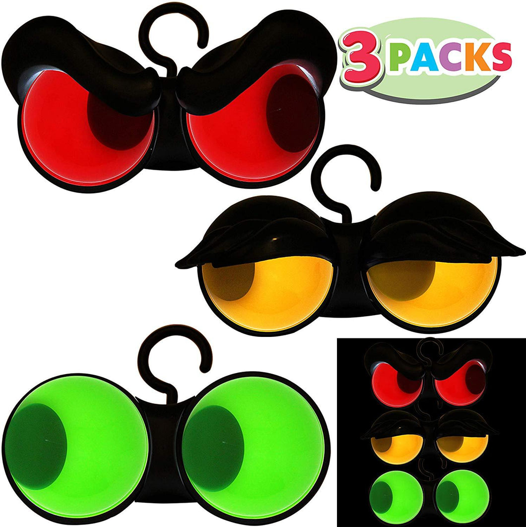 Halloween Flashing Peeping Eyes Lights (3 Pack, Color); Dark-activated