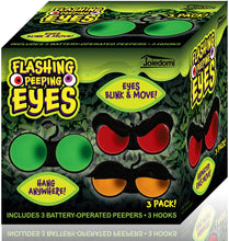 Load image into Gallery viewer, Halloween Flashing Peeping Eyes Lights (3 Pack, Color); Dark-activated