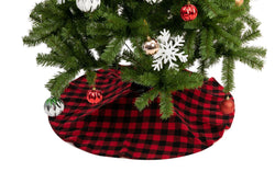 "36"" Red Buffalo Plaid Christmas Tree Skirt"