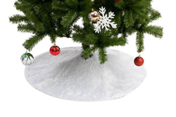 "48"" Christmas Faux Fur Tree Skirt (White)"