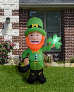 Large St. Patrick's Standing Leprechaun Inflatable (6 ft)