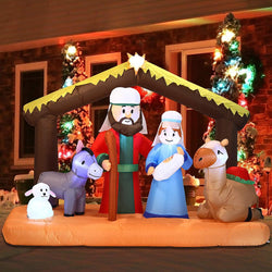 Large Nativity Scene Inflatable (6.5 ft)