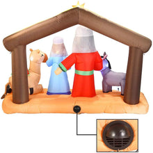 Load image into Gallery viewer, Large Nativity Scene Inflatable (6.5 ft)