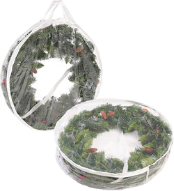 2 Packs Clear Christmas Wreath Storage Container