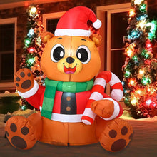 Load image into Gallery viewer, Tall Holiday Teddy Bear Inflatable (5 ft)