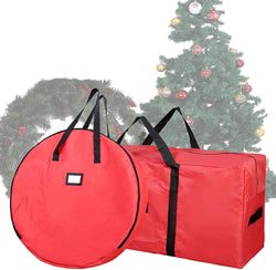 "48"" Christmas Tree Storage Bag with 30"" Christmas Wreath Storage Container"