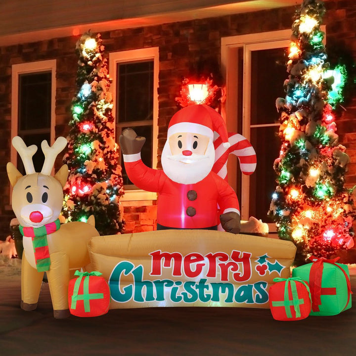 Giant Christmas Sign Inflatable (10 ft)