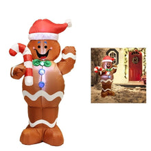 Load image into Gallery viewer, Christmas Gingerbread Man Inflatable