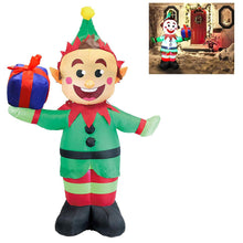 Load image into Gallery viewer, Tall Elf with Present Inflatable (5 ft)