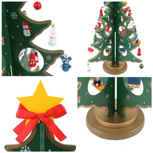 "Load image into Gallery viewer, 14"" Tabletop Wooden Christmas Tree"
