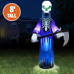 8 Feet Halloween Inflatable Floating Head Reaper