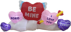 Large Long Hearts Patch Valentine Inflatable (6 ft)