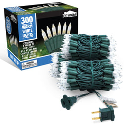 3 Set of 100-Count Clear Green Wire Christmas Light