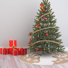 "Load image into Gallery viewer, 48"" Christmas Tree Skirt (Reindeer)"