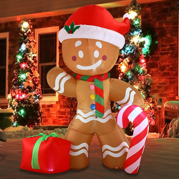 Jumbo Gingerbread Man Inflatable (8 ft)