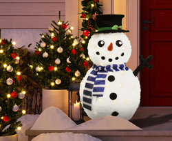 3 ft Collapsible Snowman LED Yard Light