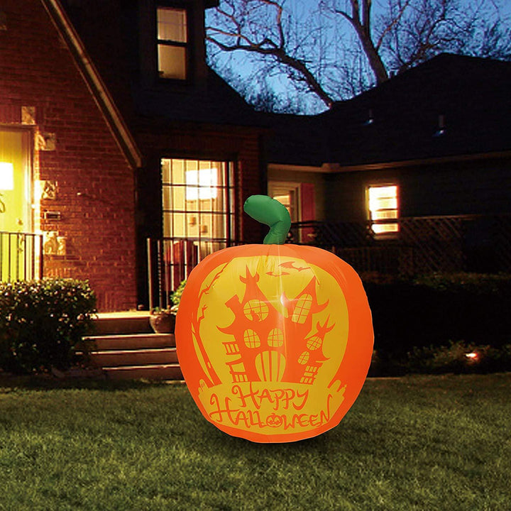 Tall Panoramic Projection Pumpkin Inflatable (4 ft)