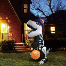 Load image into Gallery viewer, Jumbo Skeleton Dinosaur Inflatable (8 ft)