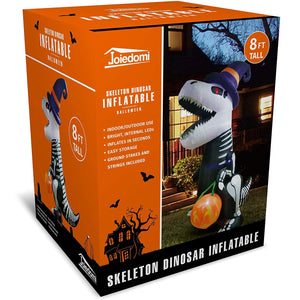 Jumbo Skeleton Dinosaur Inflatable (8 ft)