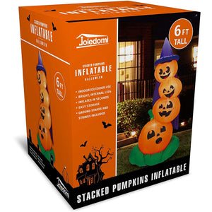 Large Stacked Pumpkins Inflatable (6 ft)