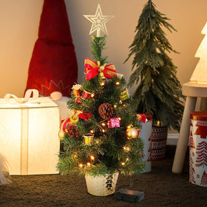 "20"" Table-top Christmas Tree with Tree Topper"