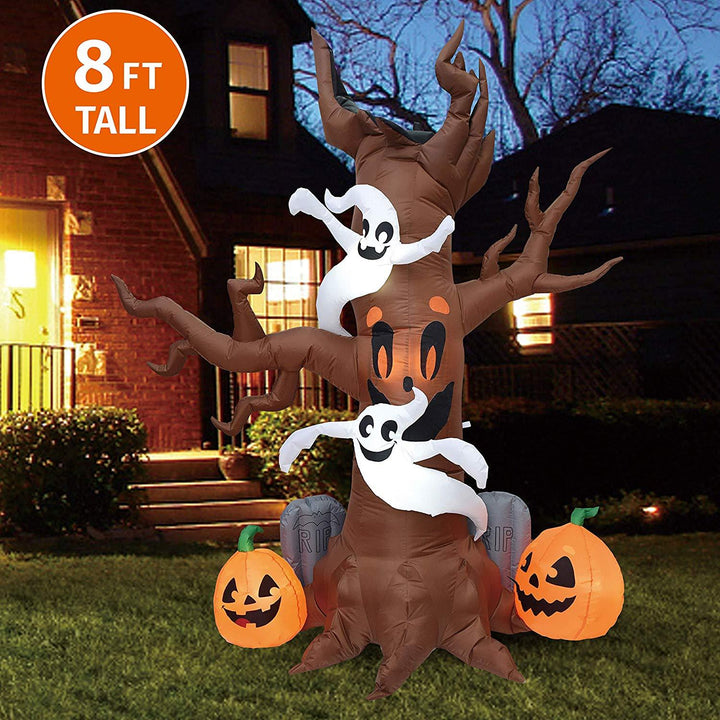 Jumbo Scary Tree with Graves Inflatable (8 ft)