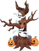 Load image into Gallery viewer, Jumbo Scary Tree with Graves Inflatable (8 ft)