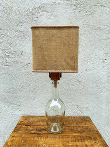 Glass Bottle Lamp - Burlap (001)