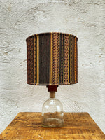 Load image into Gallery viewer, Glass Bottle Lamp - Tequila & Gabbeh Brocade (001)