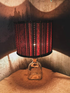 Glass Bottle Lamp - Tequila & Gabbeh Brocade (001)