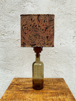 Load image into Gallery viewer, Glass Bottle Lamp - Whisky & Paisley Brocade (001)