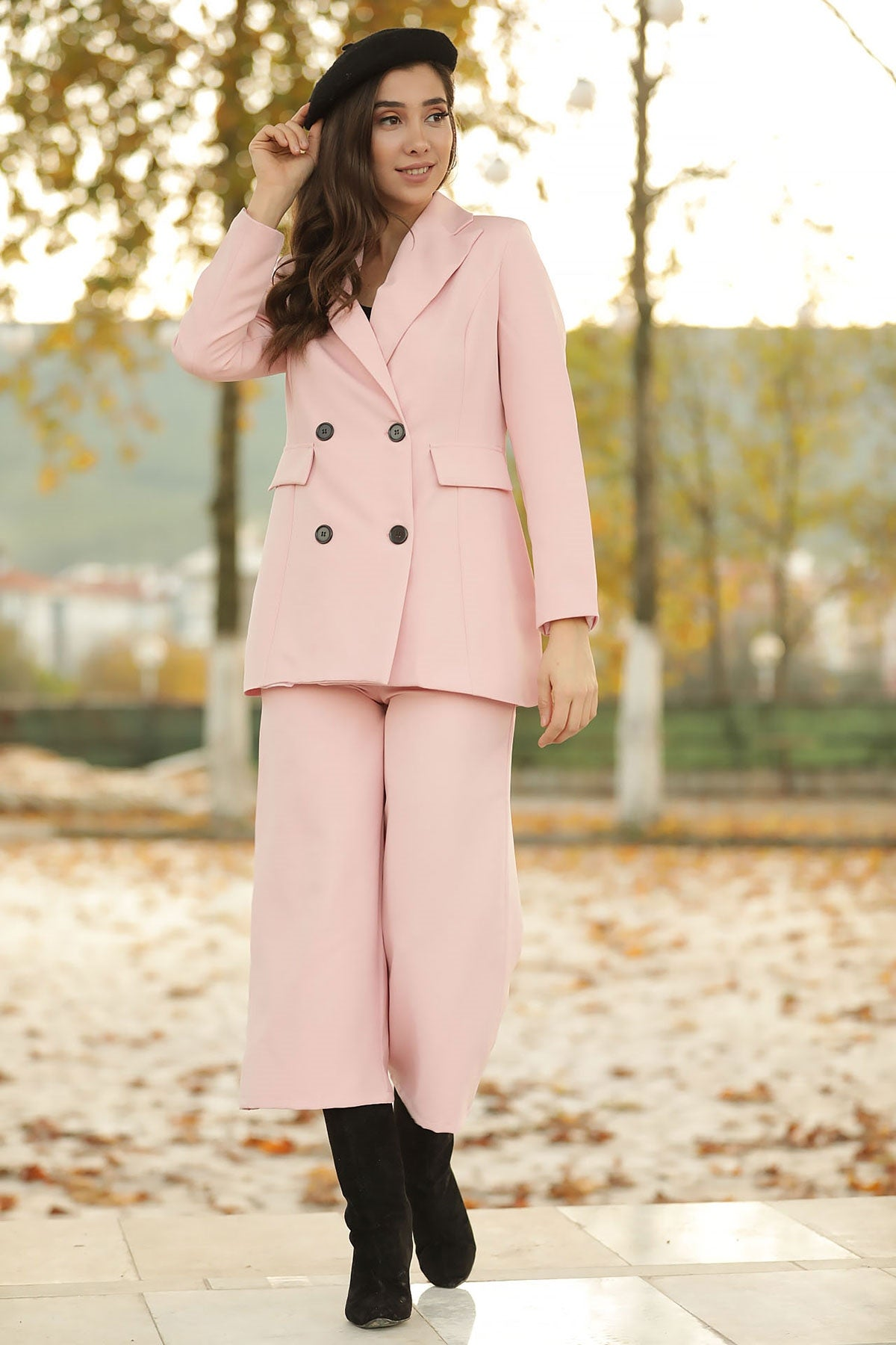 Women's Powder Rose Jacket Pants Set
