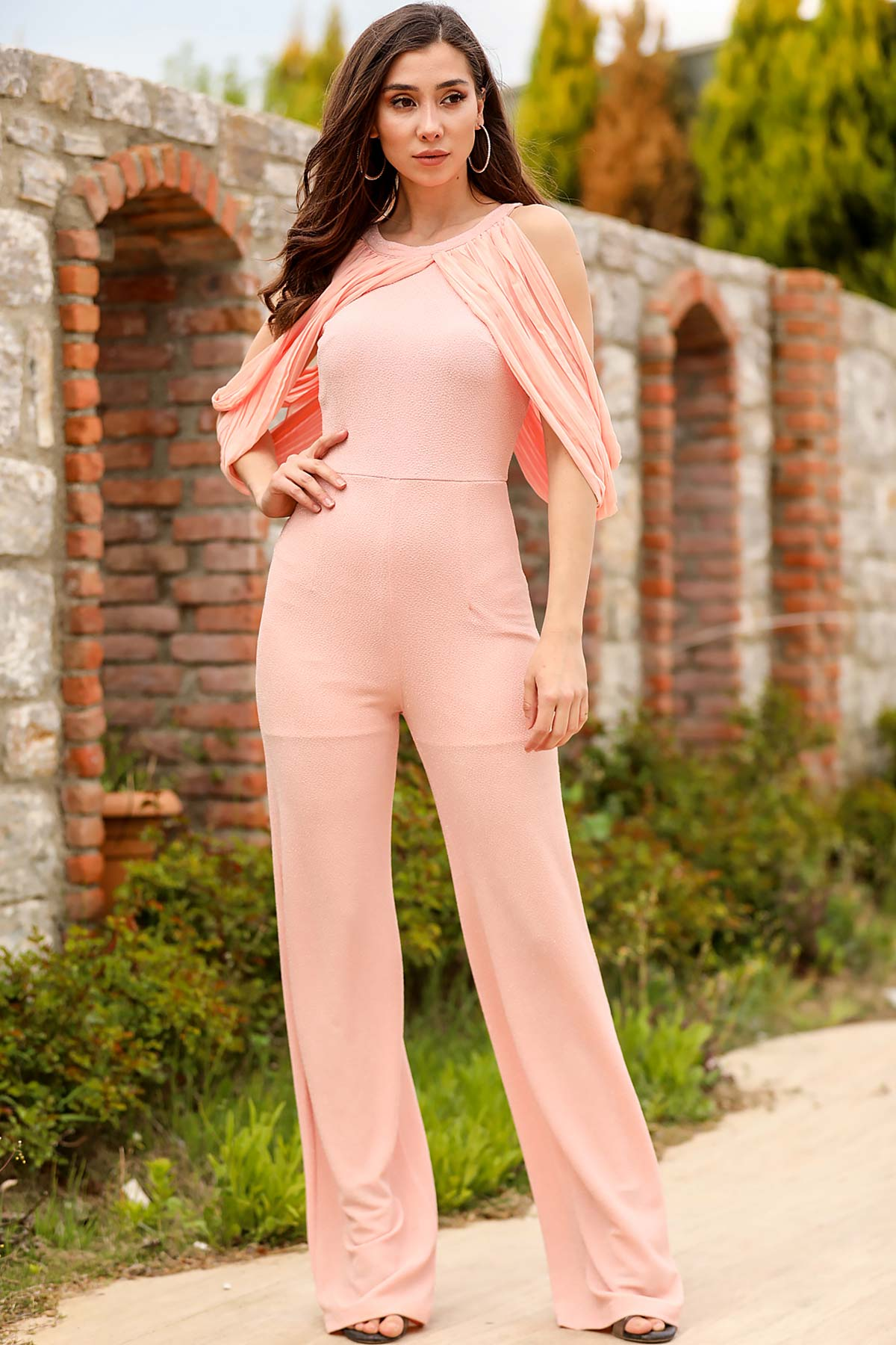 Women's Glitter Powder Rose Overall