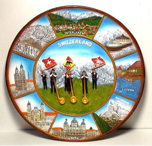 22 CM SWISS CITIES PLATE