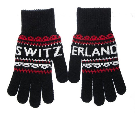 GLOVE - MAN BLACK RED