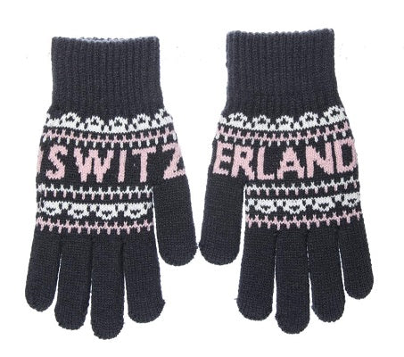 GLOVE - WOMAN GREY PINK