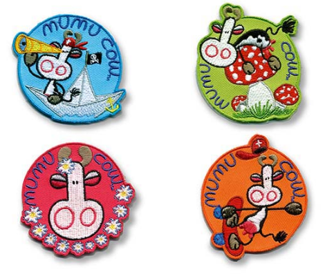BADGE MUMU COW 4 COLOUR ASSORTED