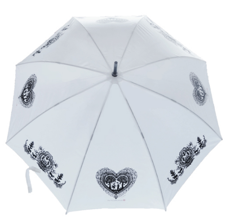 BIG AUTOMATIC UMBRELLA WHITE PAPER CUTTING