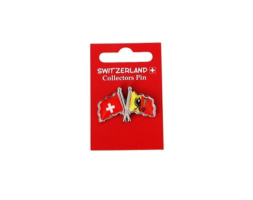 DOUBLE PIN SWISS AND GENEVA FLAG