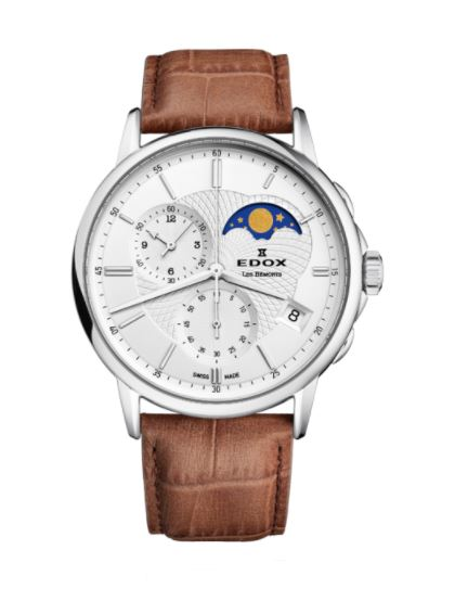 EDOX LES BÉMONTS CHRONOGRAPH MOON PHASE 01651-3-AIN