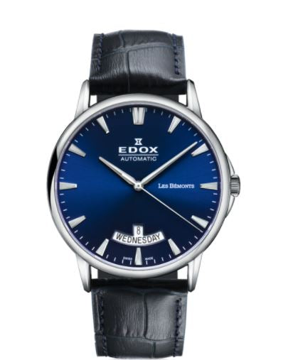EDOX LES BÉMONTS DAY DATE AUTOMATIC 83015-3-BUIN