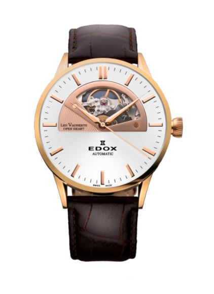 EDOX LES VAUBERTS OPEN HEART AUTOMATIC 85014-37R-AIR