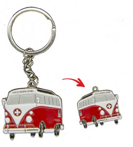 KEYRING METAL VW BUS 4x3cm