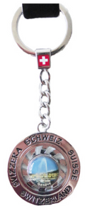KEYRING METAL WITH FREE CHOICE 15MM LABEL SWIVEL MOLD