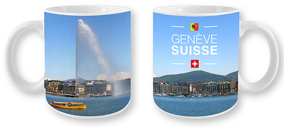MUG GENEVA WITH THE JEAT D'EAU 325ml