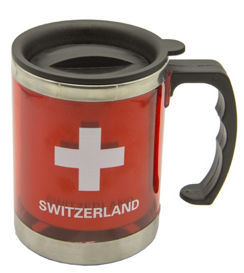 MUG STAINLESS STEEL RED CH 3dl