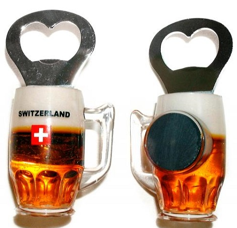 PLASTIC BEER BOTTLE OPENER WITH MAGNET