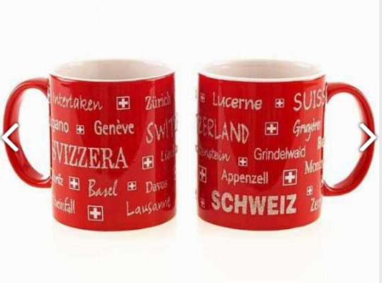 RED MUG WITH TOWNSHIPS