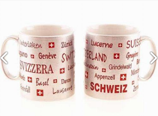 WHITE MUG WITH TOWNSHIPS